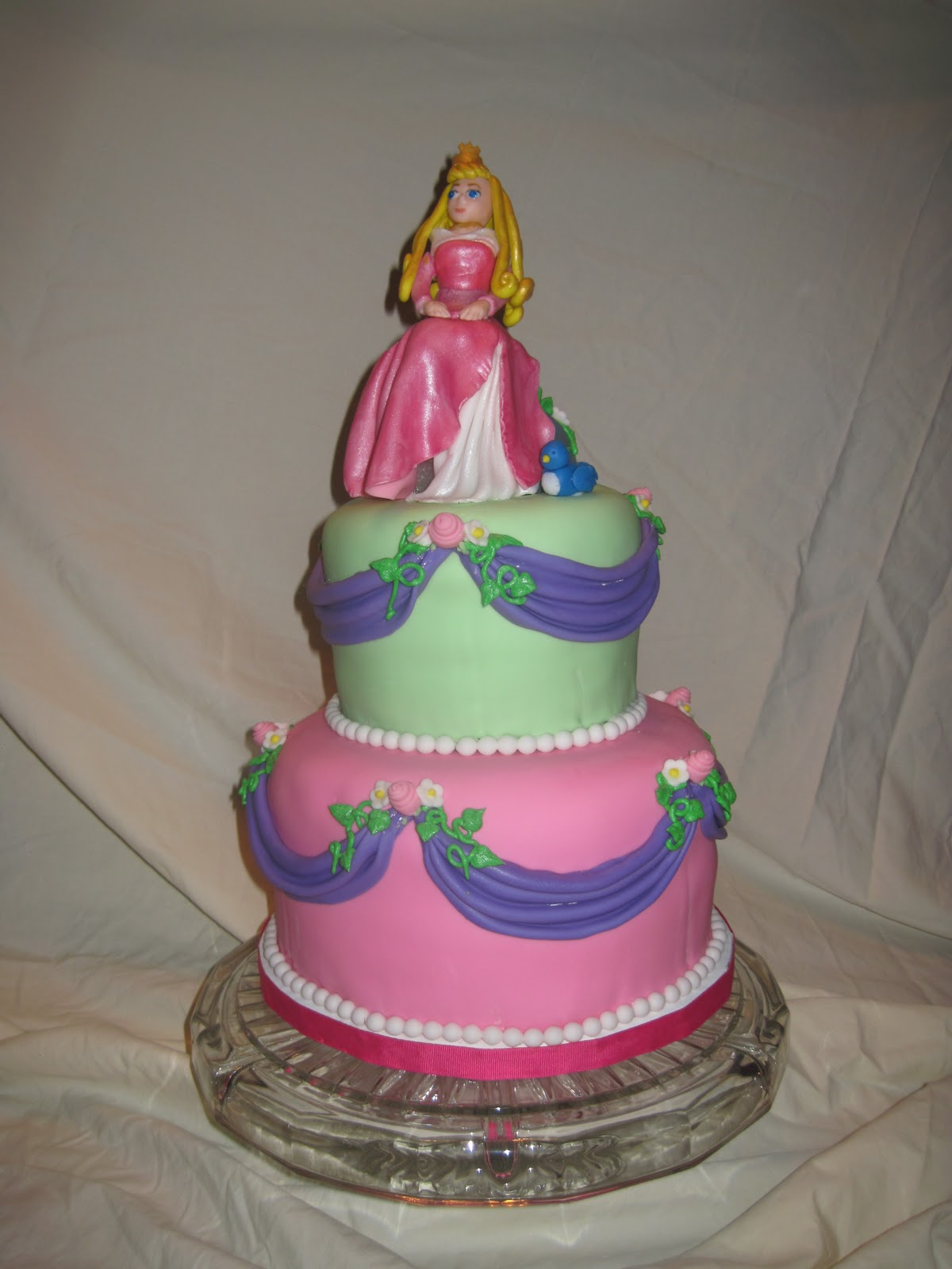 This cake was made for a friend of mine. Her daughter turned 2 and is ...