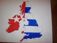 Gambar Peta Inggris berlatar belakang Bintang Kejora