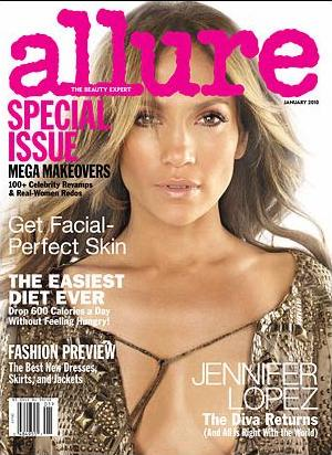 Jennifer Lopez Covers Allure January 2010