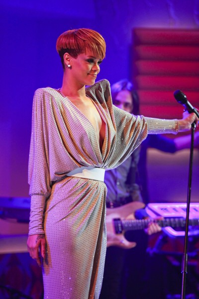 Rihanna Performance At Friday Night with Jonathan Ross Show In London