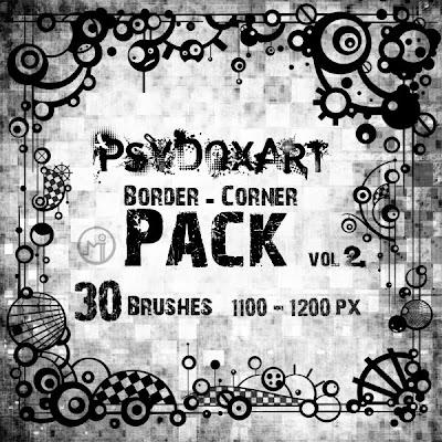 [DESCARGA] Varios brushes para Photoshop Border___Corner__Brushes_by_PsyDoxArt