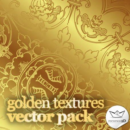 Texturas doradas en vector (Vector Gold Textures) | Recursos 2D.
