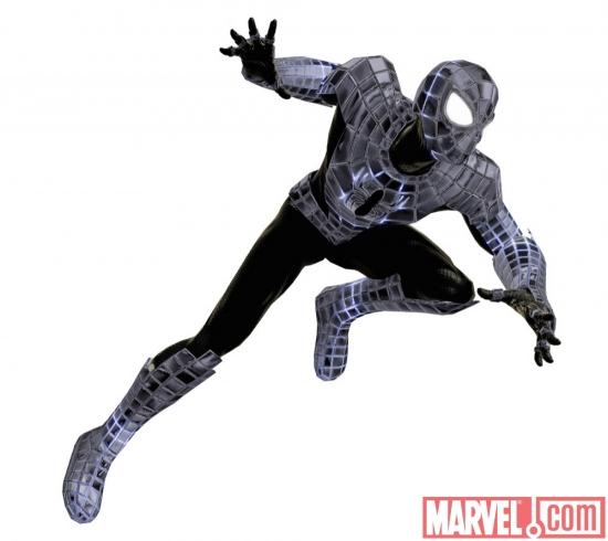 El traje negro de Spider-man ion litio