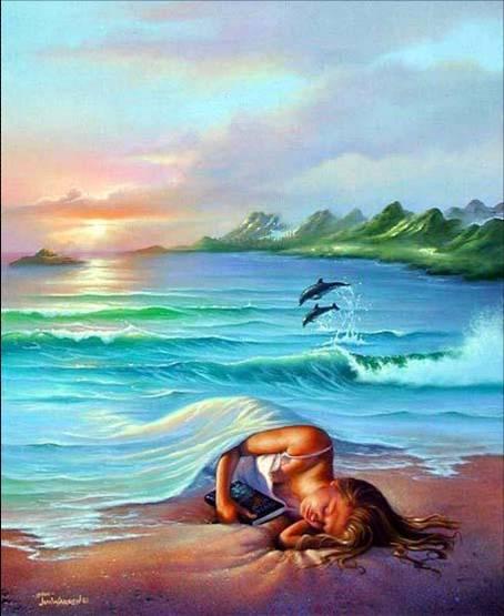 Me puse a pensar otra vez en el mar y me vino un gran deseo de morir ahogada