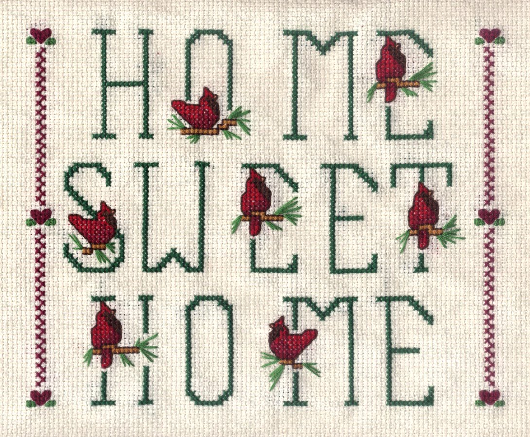 Ribbons, Lace and Buttons: CROSSSTITCH: Home Sweet Home