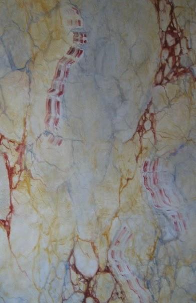 Pour de faux d 39 apr s les portraits du fayoum acrylique - Papier peint faux marbre ...