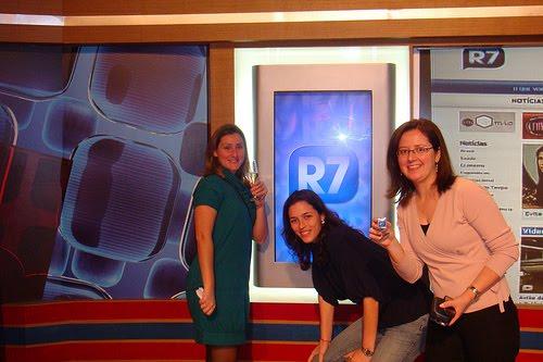 Bastidores no dia do lançamento do portal R7