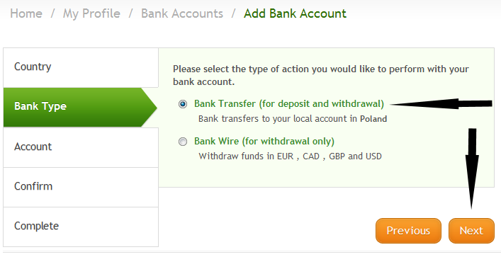 type of bank account Bank account setup bank account model overview  when you create a funds capture payment method for the processing type of bank account transfer, you enter user-defined values in the code field, which is an identifier, or shortname, for the funds capture payment method you are creating.