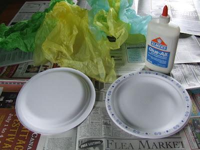 Сумочка из одноразовых тарелок. Творим с детьми и для детей