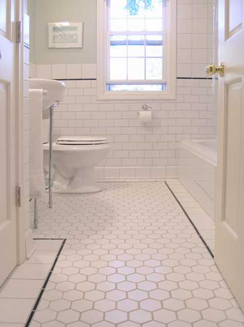 black and white tiled bathroom. Black And White Tile Floor