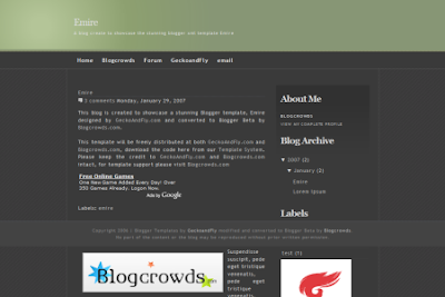 emire template for blogger