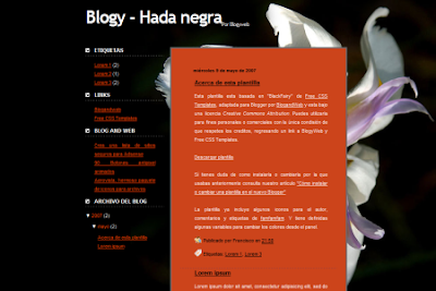 Hada Negra blogger template