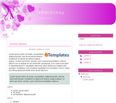 Femina 3 blogger template