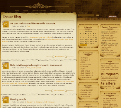aspire blogger template