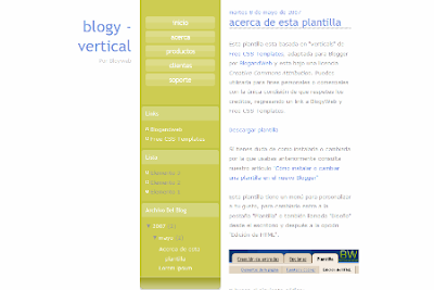 natural blogger template