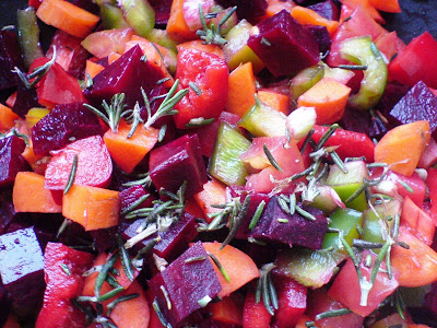Mixed Veggie Salad with Rosemary and Sumac