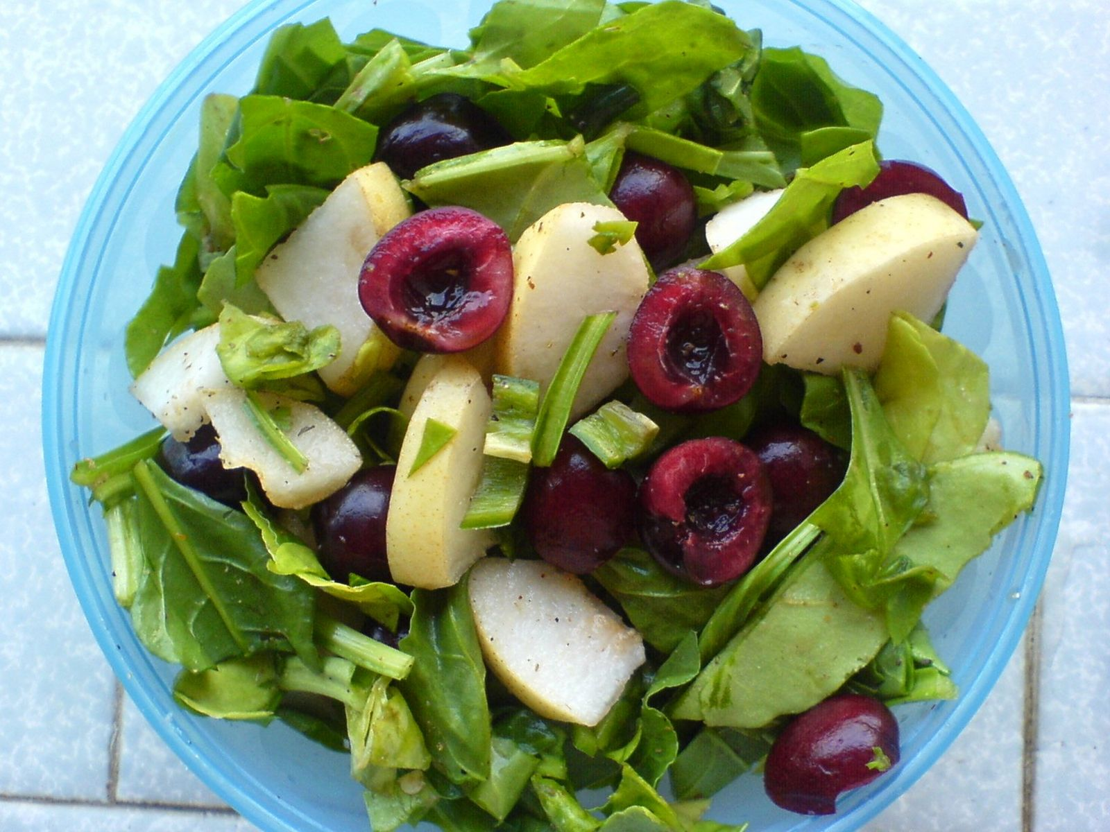 Image result for pear and cherry salad