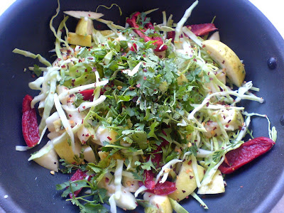 Spicy Cabbage and Guava Salad