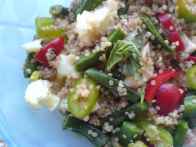 Cauliflower, Green Beans, Peppers and Quinoa Salad