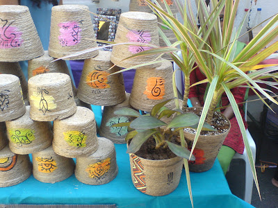 This Week at the Farmer's Market - Jute plant holders