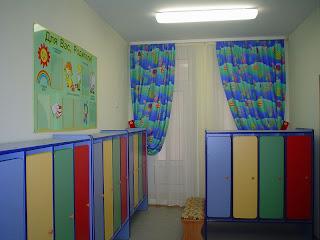 Раздевалка в детском садике