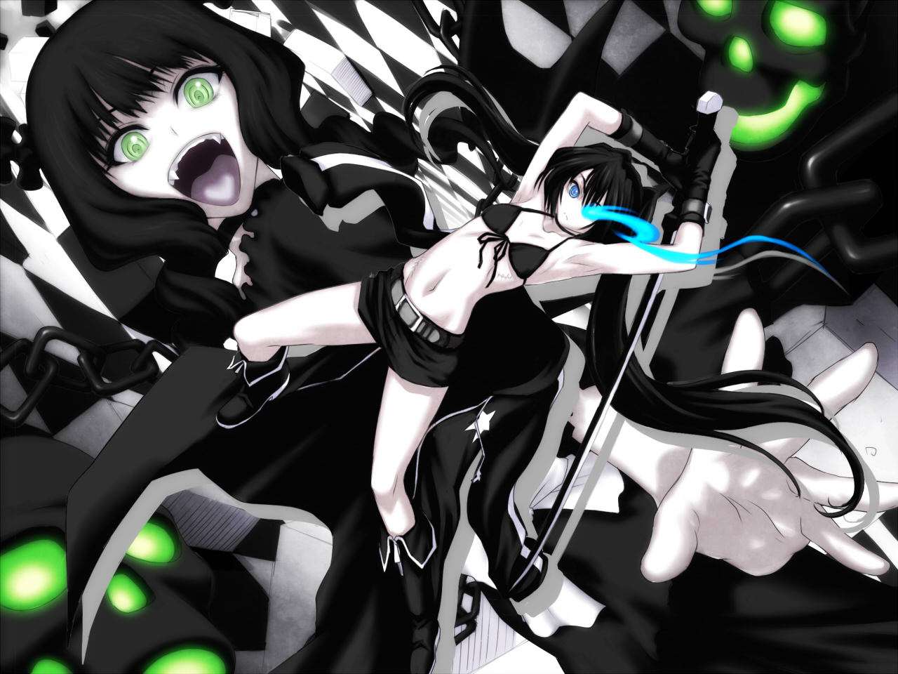 going under.... Konachan.com+-+63032+black_rock_shooter+kuroi_mato+scar+sword+takanashi_yomi+weapon