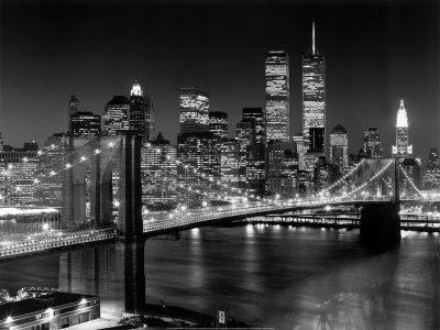 Brooklyn Bridge Brooklyn+Bridge+and+Twin+Towers+-+New+York+Henri%E2%80%99s+Silberman%E2%80%99s