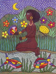 """Oshun"", manierism and marianism in caribbeans contemporary artist."
