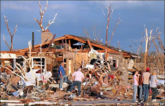 Recently tornadoes disaster area in United States.