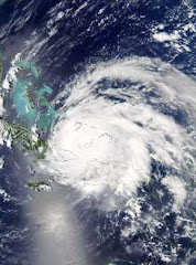 Satellite Image of Ike over Cuba.