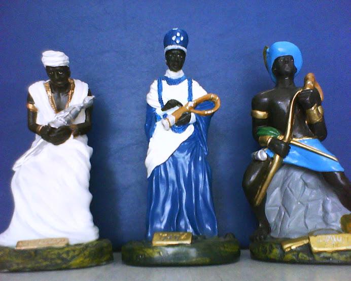 Orixás Africanos em gesso
