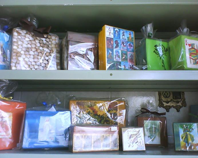 Caixas decorativas com Orixás