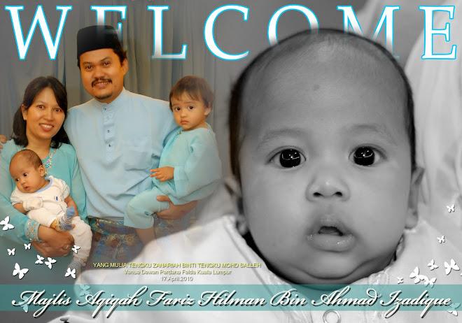 Majlis Aqiqah Fariz Hilman Bin Ahmad Izadique
