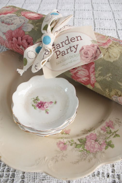 Country inn blackbird designs one stitch at a time for Garden party fabric by blackbird designs