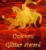 unicorn glitter award