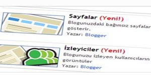 Blogger'a Gadget Eklemek