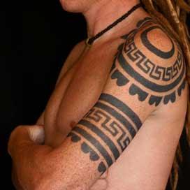 Mayan Style Jagua  Tattoo