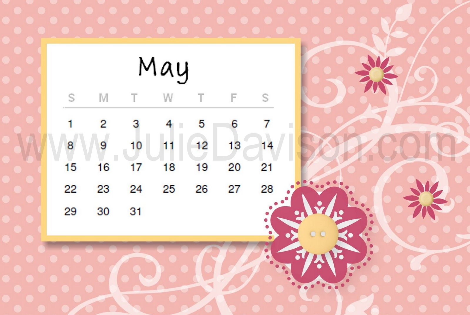 May Calendar Ideas : Julie s stamping spot stampin up project ideas by