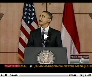 video pidato obama di indonesia , pidata barrack obama di UI, pidato Obama Di Universitas Indonesia