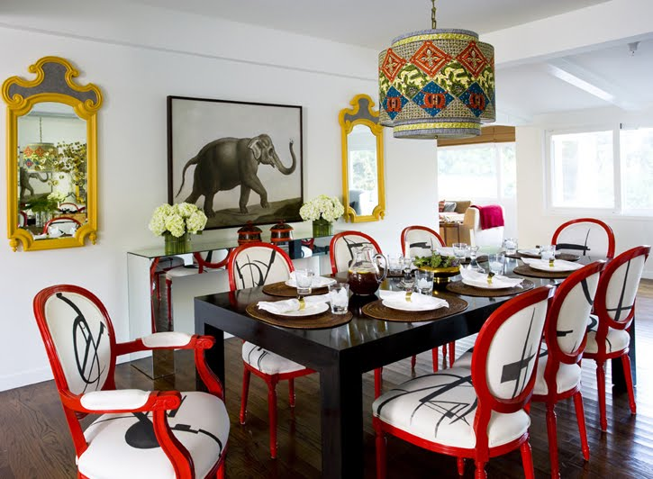 Red Dining Room Design