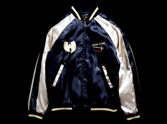 Applebum x Wu-Tang Brand Souvenir Jacket. Satin Sukajan Souvenir Jacket,