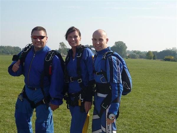 Olka z ekipa skydiving