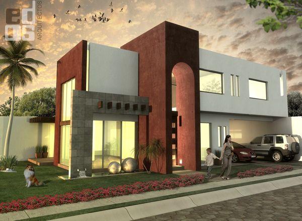 Edos arquitectos fachada casa habitacion - Proyecto de casas ...