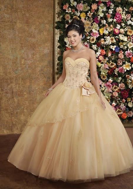 Foto de Vestido de 15 Años - Color oro