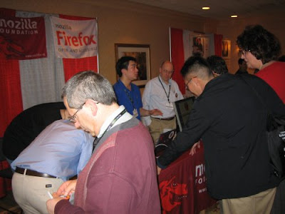 Crowded booth