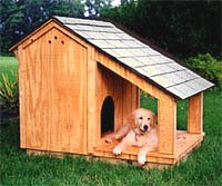 Dog House With Shade Porch Free Woodworking Project Plans