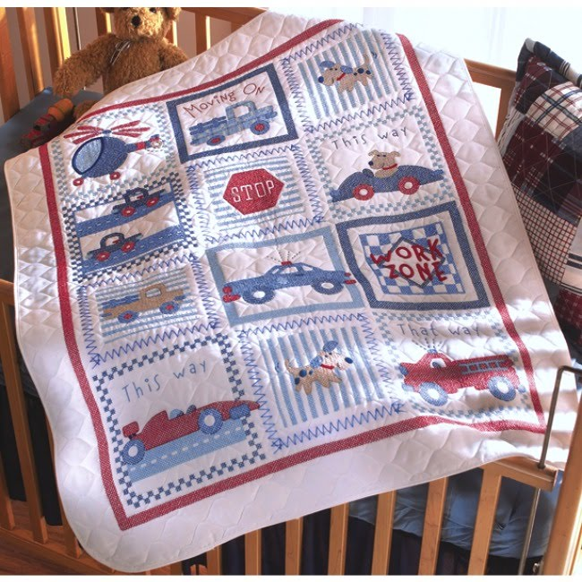 Weekend Kits Blog: Bucilla Cross Stitch Kits for Baby - Moving On! : stamped cross stitch baby quilts - Adamdwight.com
