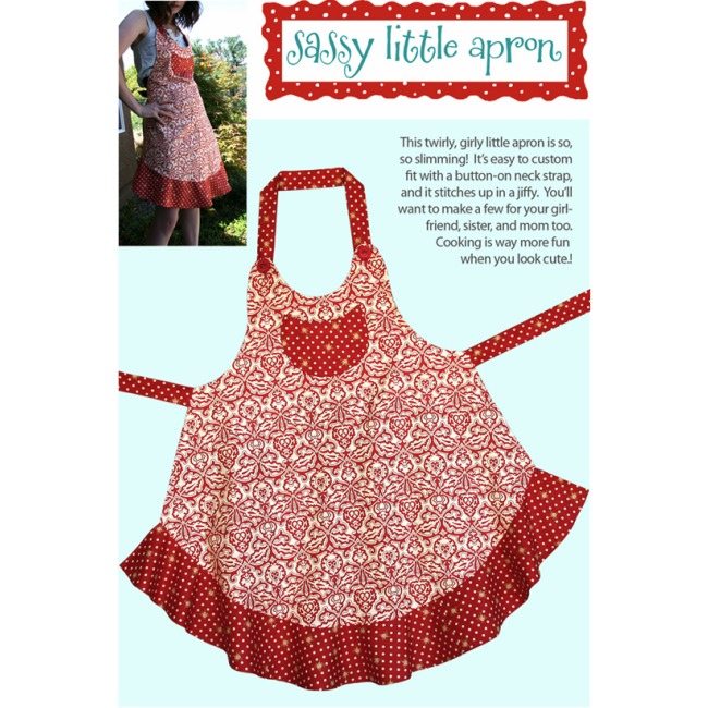 cabbage rose sassy little apron pattern Apron Sewing Patterns