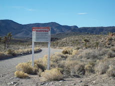 Groom Lake Road Warning Sign