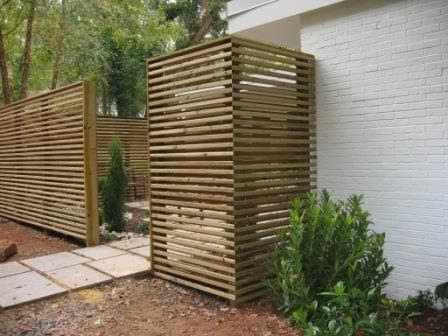 modern fences slim horizontal slat fence